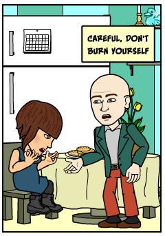 Careful don't burn yourself